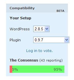 Plugin Compatibility 界面