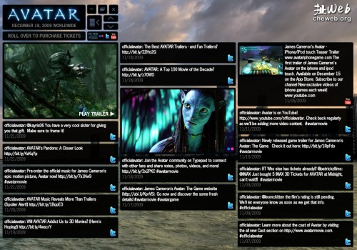 从app中查看Avatar的官方Twitter